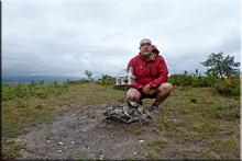San Justi mendiaren gailurra 1.028 m. -- 2015eko uztailaren 25ean