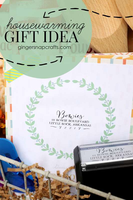 Housewarming Gift Idea #gingersnapcrafts #gift