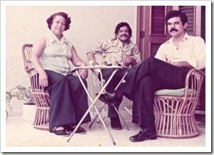 Cheita, George Arackal y Tico Berrido