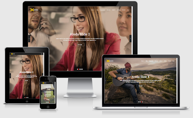 Areda Home-3 (without borders) Blogger Template free download