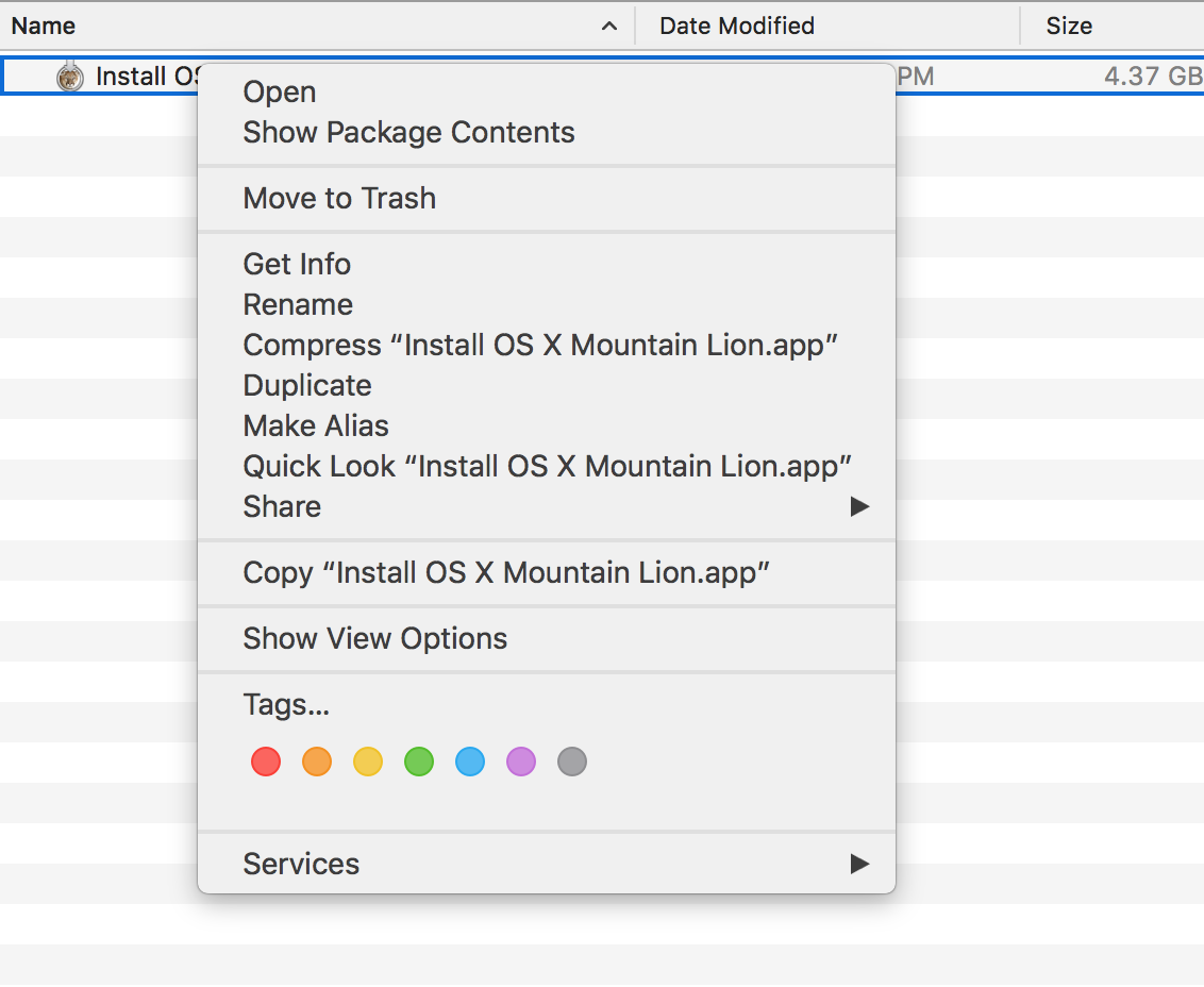 27 Open Package Contents for maOS Mountain Lion