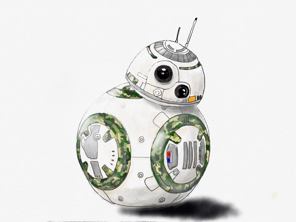 camouflage BB8 made with Sketches