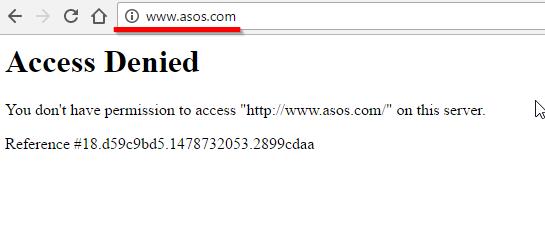 Asos.com недоступен