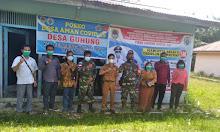 Antisipasi Penyebaran Covid19, Pj Danramil Pemuar Pantau Posko Siaga Di Desa Guhung