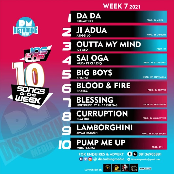 Trending : Jtown Top 10 songs of the week ( week 7)