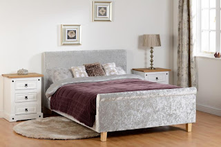 Fabulous  u double Shelby crushed velvet bed frame