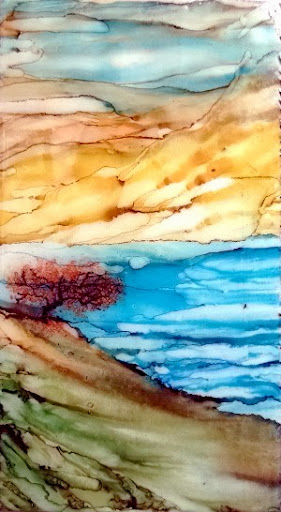"""Serenity"" by Sherry Salant. Alcohol Ink. $85.00"
