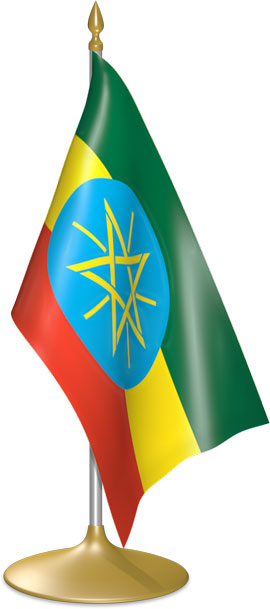 Ethiopian table flags - desk flags