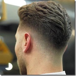 Low Drop Fade with Thick Textured Brushed Back Hair