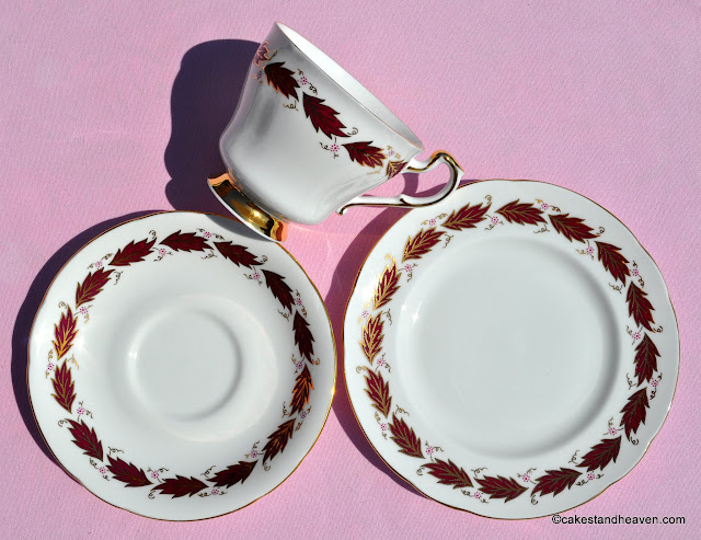 Paragon Elegance pattern 1950s teacup, saucer, tea plate