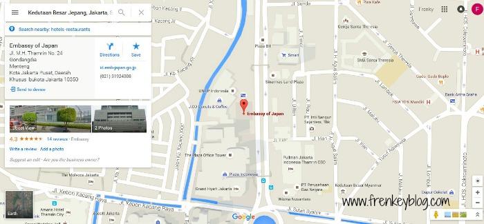 Lokasi Kedutaan Besar Jepang di Jakarta