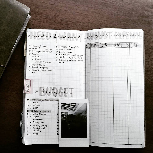 bujo for financial