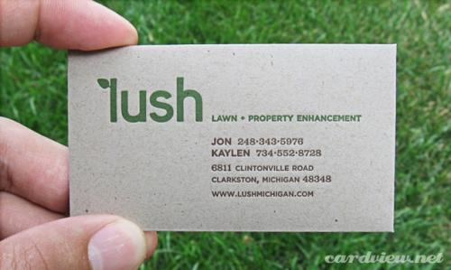 lush business card