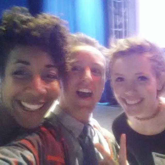 Actor Paul Cram with Adia Morris and Singer Haley Bonar