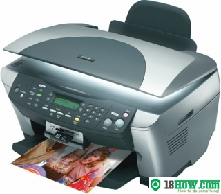 How to reset flashing lights for Epson RX510 printer