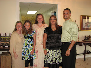 Ann and Susan with Byron and Renee Duke, and their daughter, Sierra. We love this church!