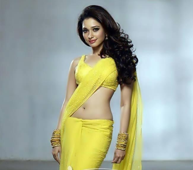 Tamanna hot in yellow