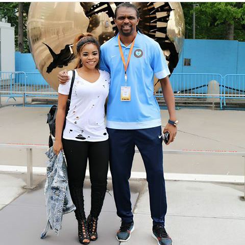 See who was spotted with Kanu Nwankwo in New York Today