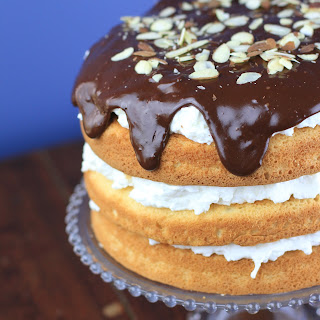 Dark Chocolate Coconut Almond Cake