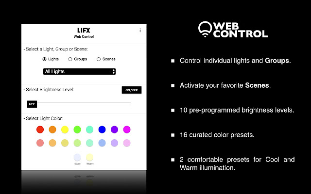 LIFX Web Control