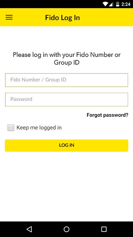 Fido My Account- screenshot