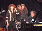 Marie, Annie, and Jeannie Burns with Abe Guthrie. Pre-sound check fun. Lost World Tour.