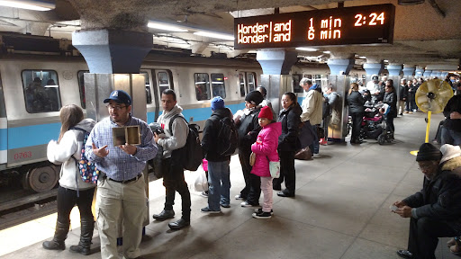 Now find a group of people and use the object lesson as a means to share the gospel! In this photo I'm using it to preach the gospel in the open air down in the subways.