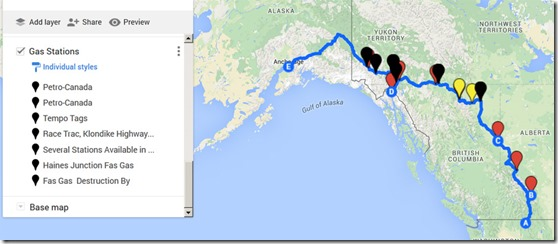 Our route to Alaska