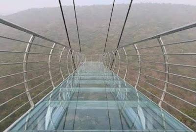 बिहार के राजगीर में बना ग्लास ब्रिज: ग्लास ब्रिज से स्काई वॉक और वादियों का नजारा - anokhagyan.in
