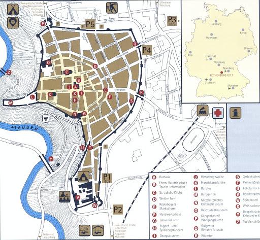 карта Ротенбург