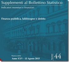 Supplemento al bollettino statistico. Agosto 2015