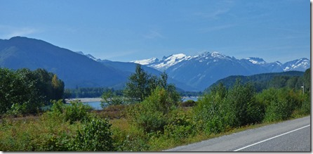 Skeena River along Yellowhead Highway between Terrace and Prince Rupert