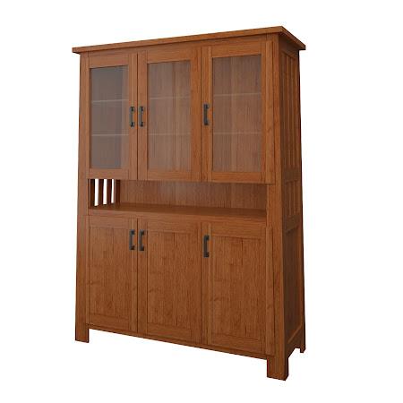 Teton China Cabinet in Itasca Maple