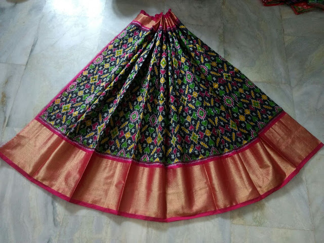 Silk lehenges