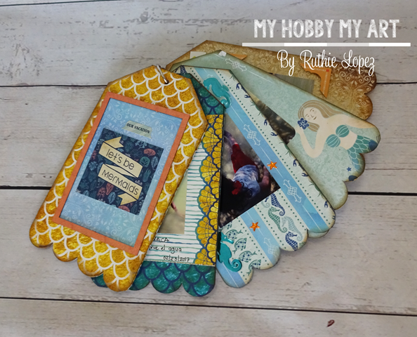 Mini album, clear Scraps Kits, Ruthie Lopez