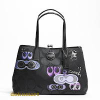 Coach Signature Applique Framed Carryall 17575