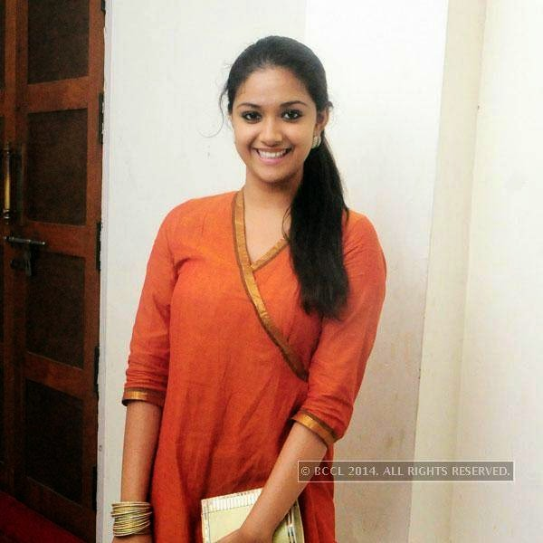 Keerthy Suresh during Ghanashyama Sandhya in Trivandrum.