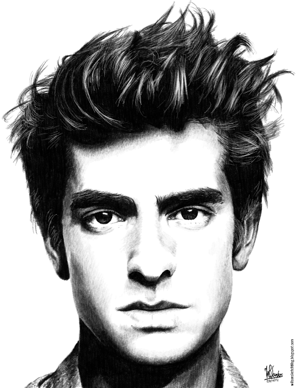 Pencil drawing of Andrew Garfield, using Krita 2.7 Alpha.