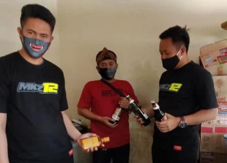 Hari pertama Dinas, Kasat Narkoba Polres Majalengka Amankan Puluhan Botol Miras