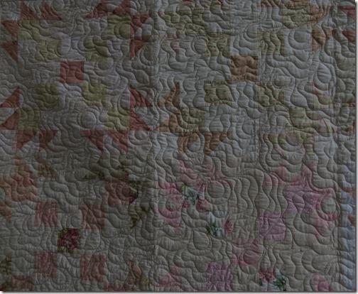 Close up quilting ruths quilt