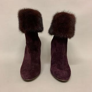 Salvatore Ferrgamo Fur Trimmed Boots