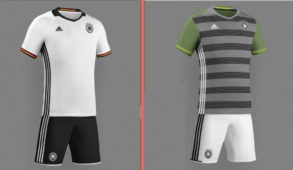 Germany Euro 2016 Home Away Kits Released