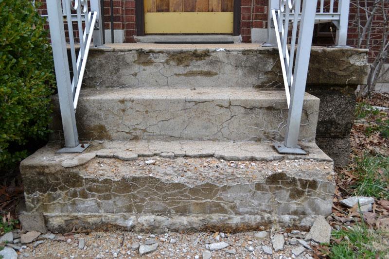 My crumbling concrete porch lansdowne life - Concrete porch steps ideas ...