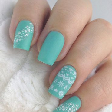 simple and sweet american tiffany nails art  fashion 2d