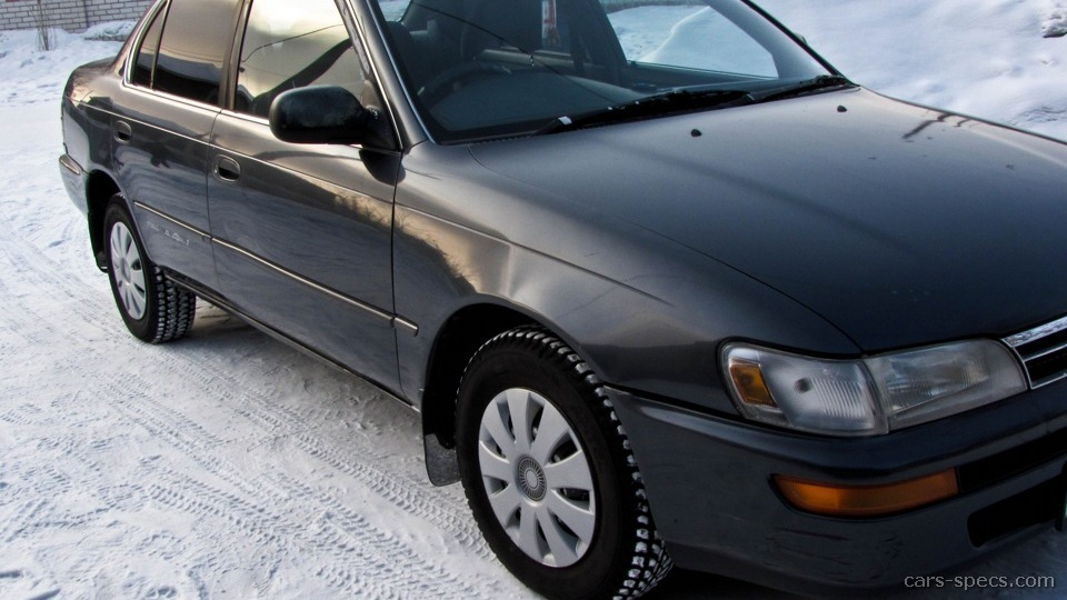 1993 Toyota Corolla Sedan Specifications, Pictures, Prices