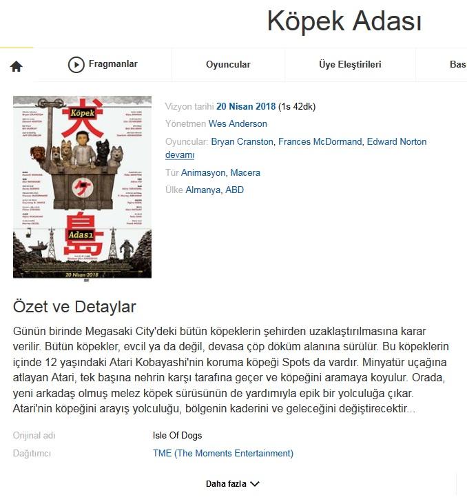 Köpek Adası 2018 - 1080p 720p 480p - Türkçe Dublaj Tek Link indir