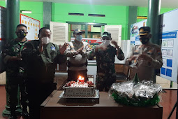 Kapolsek dan Camat Pandaan Ucapan Selamat Hari Ulang Tahun TNI ke-76 Kepada Danramil Pandaan