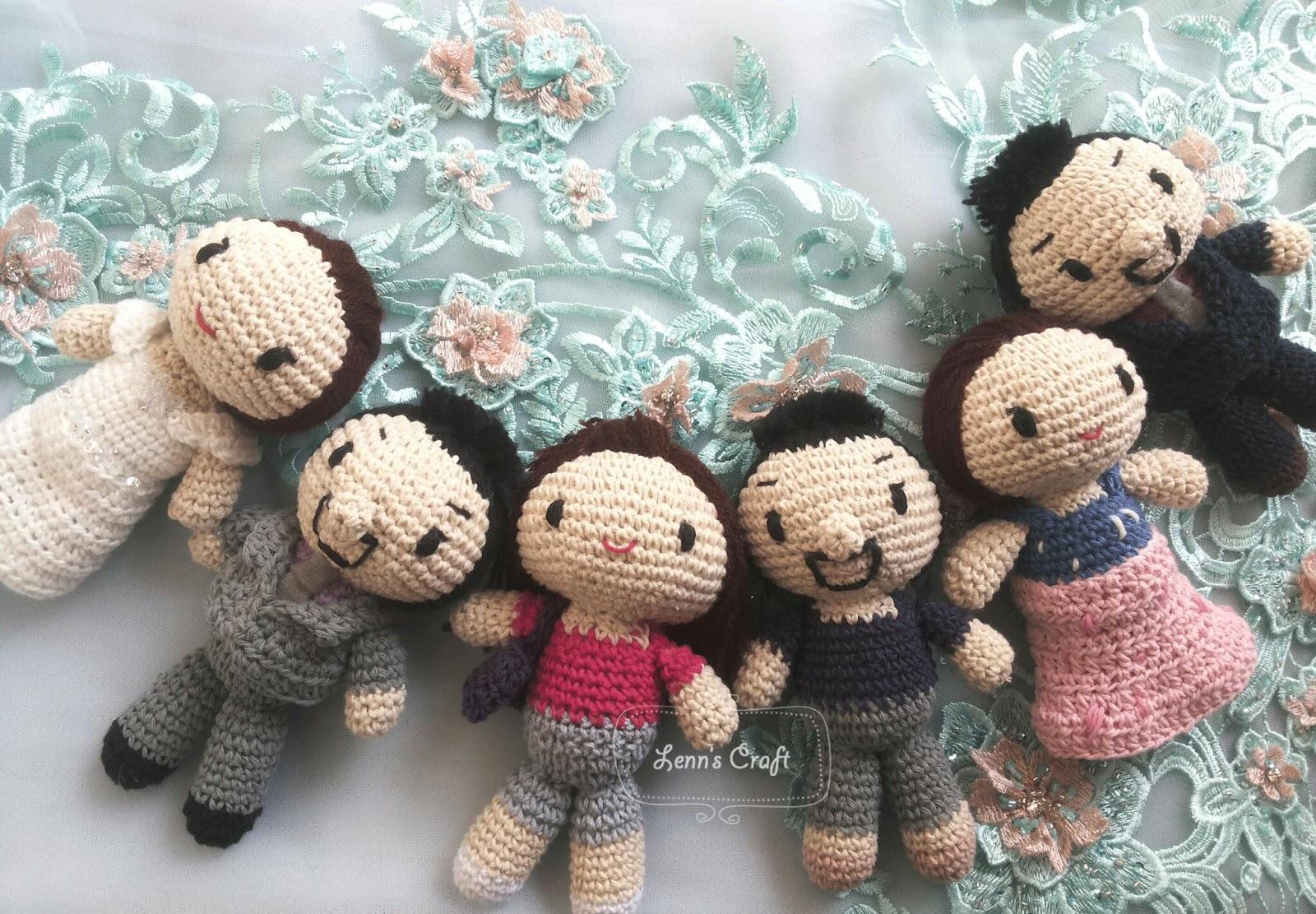 Amigurumi Boneka : Lenn s craft handmade doll amigurumi boneka rajut