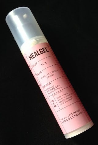 The bottle of Heal Gel Face