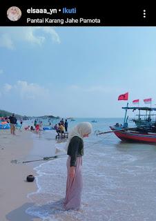 Pantai karang jahe pamotan